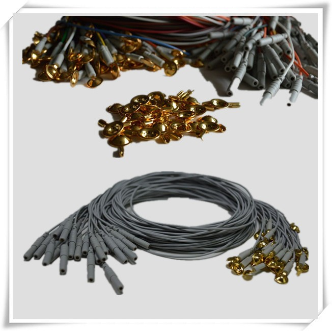 Silver/silver chloride EEG electrodes ,and cables, healthcare EEG examination machine accessories
