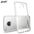 2 in 1 fashion protective tpu+pc transparent armor shockproof phone case for For Moto Z