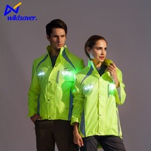 Motorcycle riding jacket with LED lights