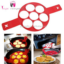 Microwave Safe Red Silicone Pancake maker mold Silicone Pancake Form