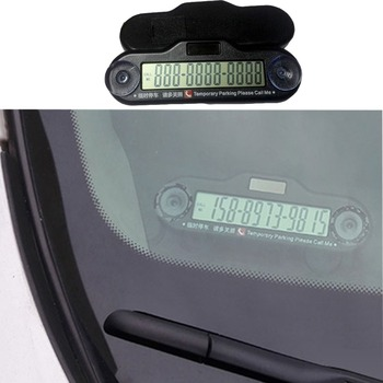 handicap parking permit LED screen show temporary parking numbers card holder