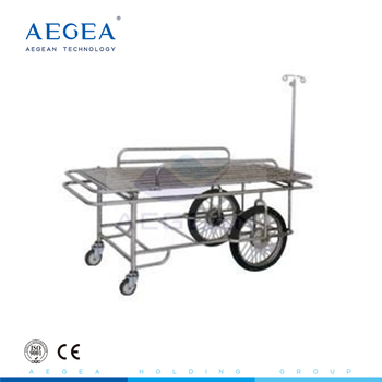 AG-SS031 CE ISO adjustable hospital emergency stretchers stainless steel trolley cart