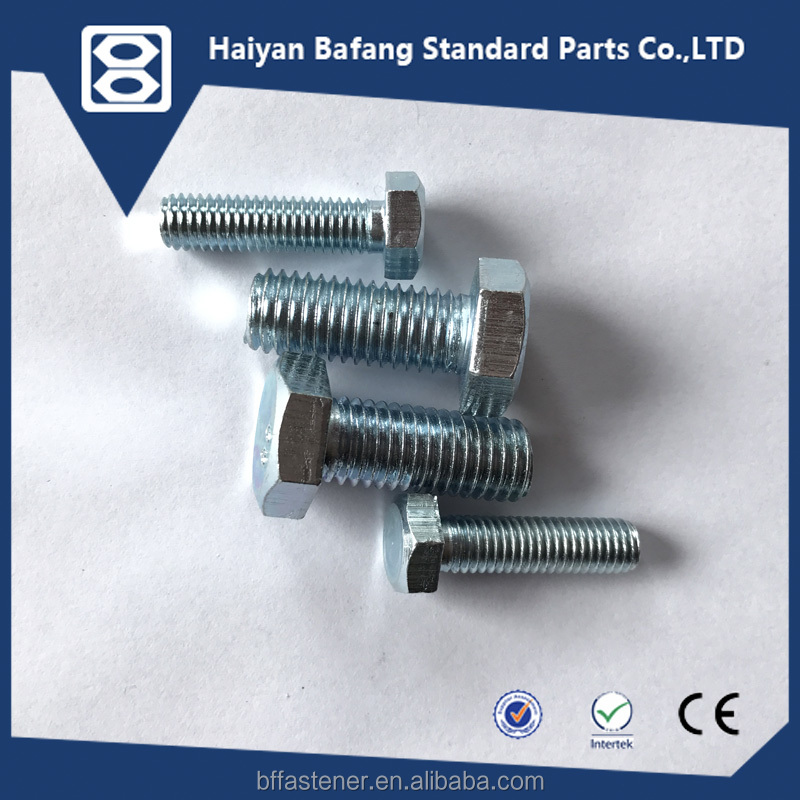 Fasteners nuts and bolts supply DIN933 for building hexagon bolts