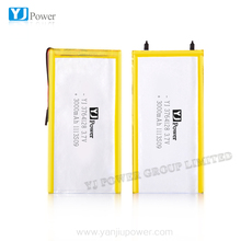 China supplier can be customized Size and 3.7v YJ3764128 3000mah 2p 6000mah rechargeable polymer li-ion battery
