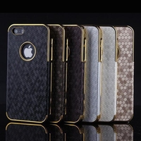 Fashionable Football Profile Electoplating PU PC Hybrid Back Cover Case for Iphone 6 Plus Case