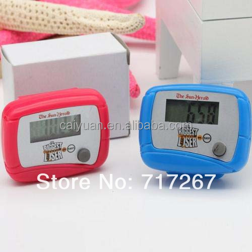 Cheap promotion gift pedometer with logo walking step counter
