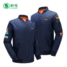 Fashion Style 100% Polyester Embroidered Mens MA-1 Bomber Flight Jacket