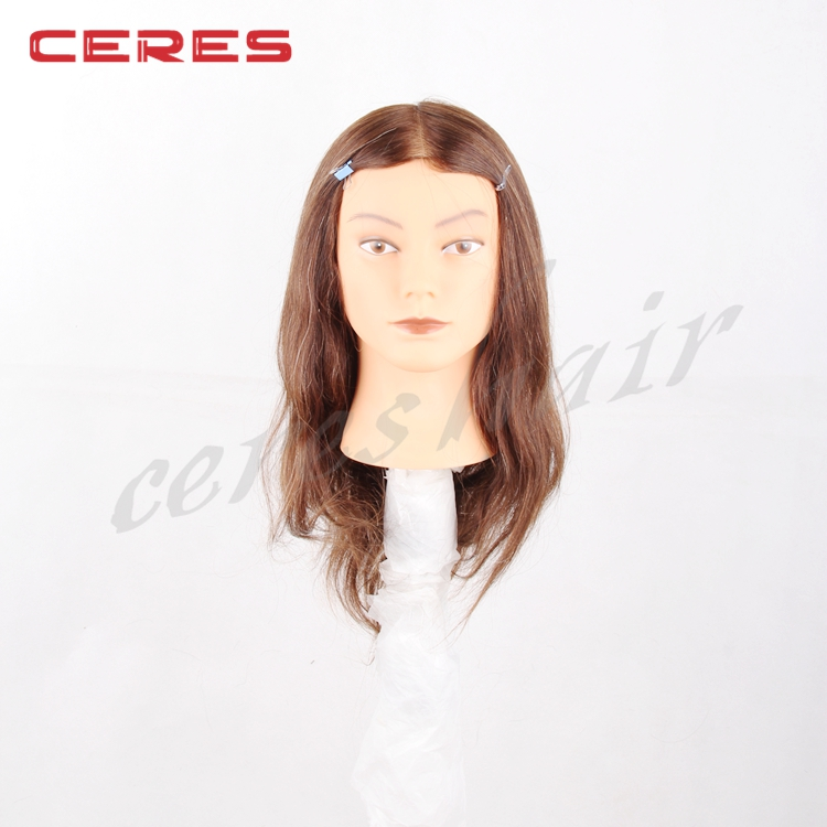 Practice Training Head Human Long Hair Model Hairdressing Mannequin Doll