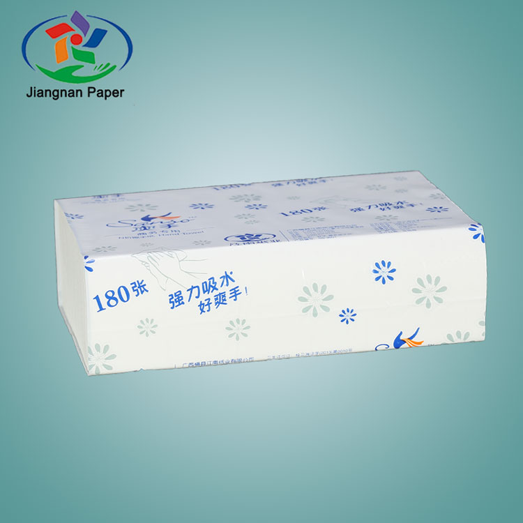 2017 hot sale white N fold paper towel hand tissue