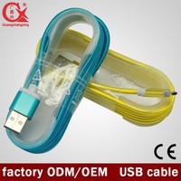 Factory directly! V2.0 micro reversible type c nylon braid usb cable