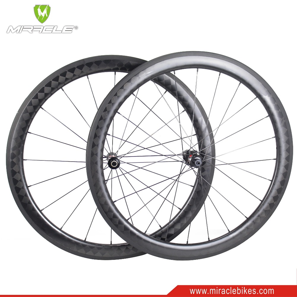 Hot sale 50mm clincher tubeless rims light weight carbon wheels 700c clincher 20H/24H carbon wheel 700C Road bicycle wheel