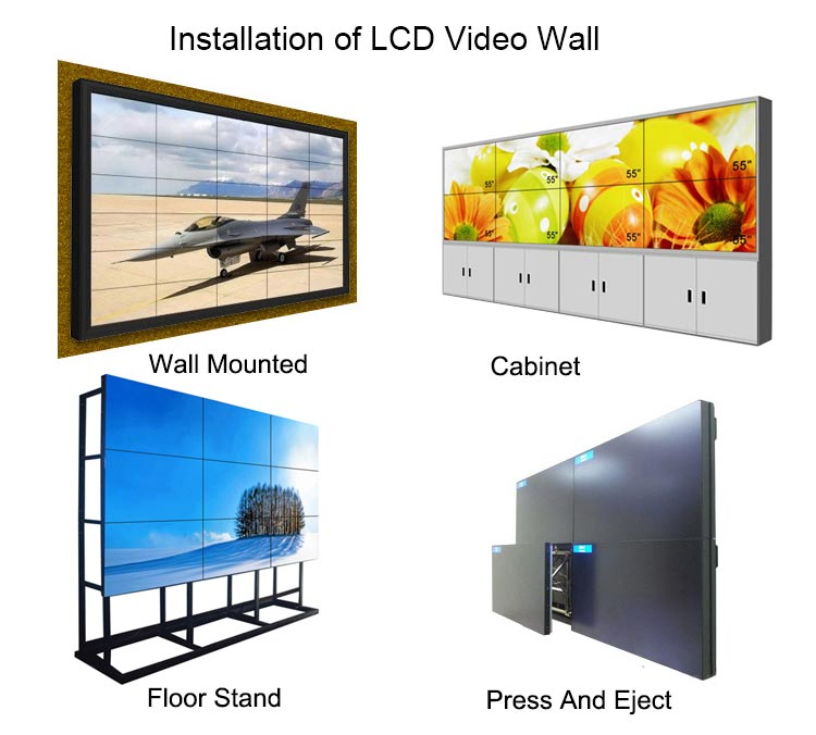 FHD 55 inch 1.7mm Bezel Advertising DID LCD Video Wall Display for sale
