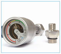 Can screw joint&flat union joint, All stainless steel two contacts SF6 Electric contact pressure gauge