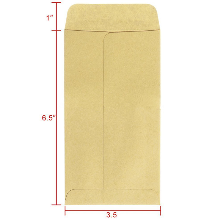 Brown Expanded Small Kraft Paper Seal Water Glue Envelope