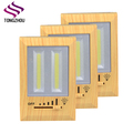 Emergency Multi-functional Light Switch Cover Outlet Wall plate With LED Night Light