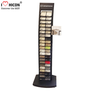 Merchandising Heavy Duty Free Stand 2-Row Ceramic Tile Stone Slab Lays Flooring Display Rack
