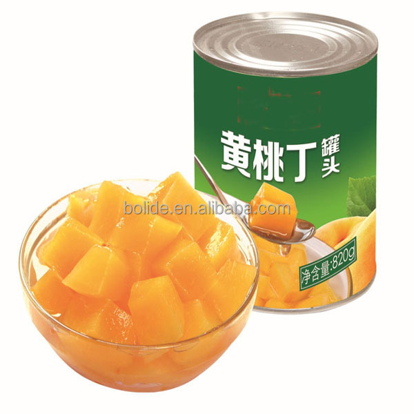 provide yellow peach tinned