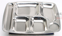 unique restaurant partition stainless steel dinner divided plate dishes