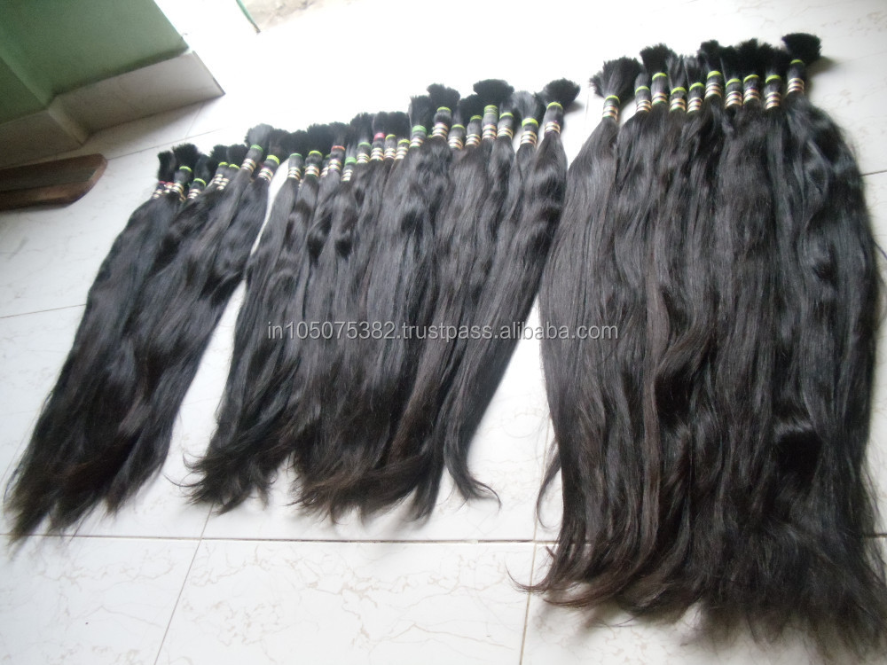 unprocessed Indian virgin remy hair for braids.