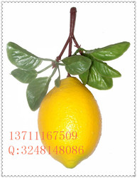 direct manufacture artificial lemon / yellow artificial foam lemon fruit for christmas/wedding decoration