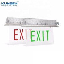 3.6W ceiling recessed mounted LED emergency exit sign