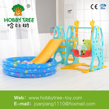 Plastic Slide Type Plastic Swing and Slide Kids Outdoor Playground Set from hobby tree