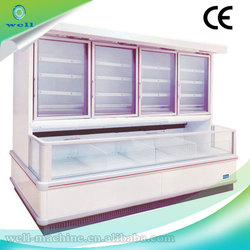 Classic meat display refrigerator with glass front door