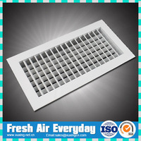 HAVS ventilation aluminum adjustable double deflection supply air grille