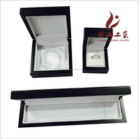 Great MDF Wood Ring Box For Wedding Ring With Leather Inside