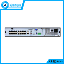 H265 16CH Real Time 30fps 4K POE NVR, 16 channel 4096*2160p hd nvr poe