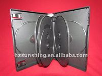 27mm black 8discs dvd case