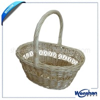 cheap wholesale wicker baskets with handles