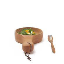 WB200-70 Customized Handle Wooden Bowl <strong>Plate</strong> Soup Bowl