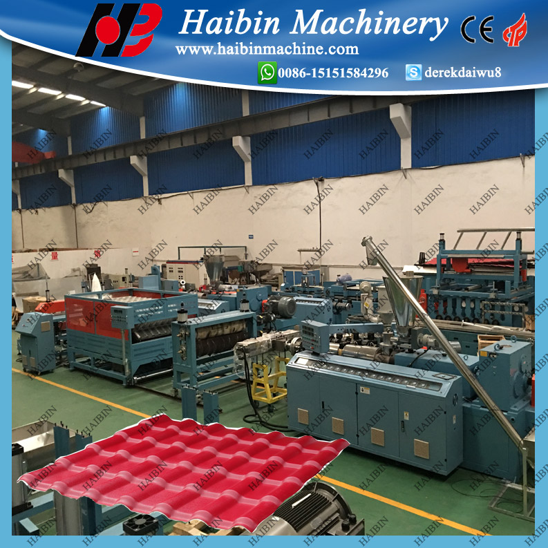 Synthetic Resin ASA Roof Tile manufacturing machine