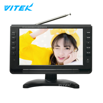 Cheap Car TV Mini Flat Screen,Rechargeable Portable TV For Truck