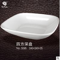 Square shape deep melamine plate dinnerware