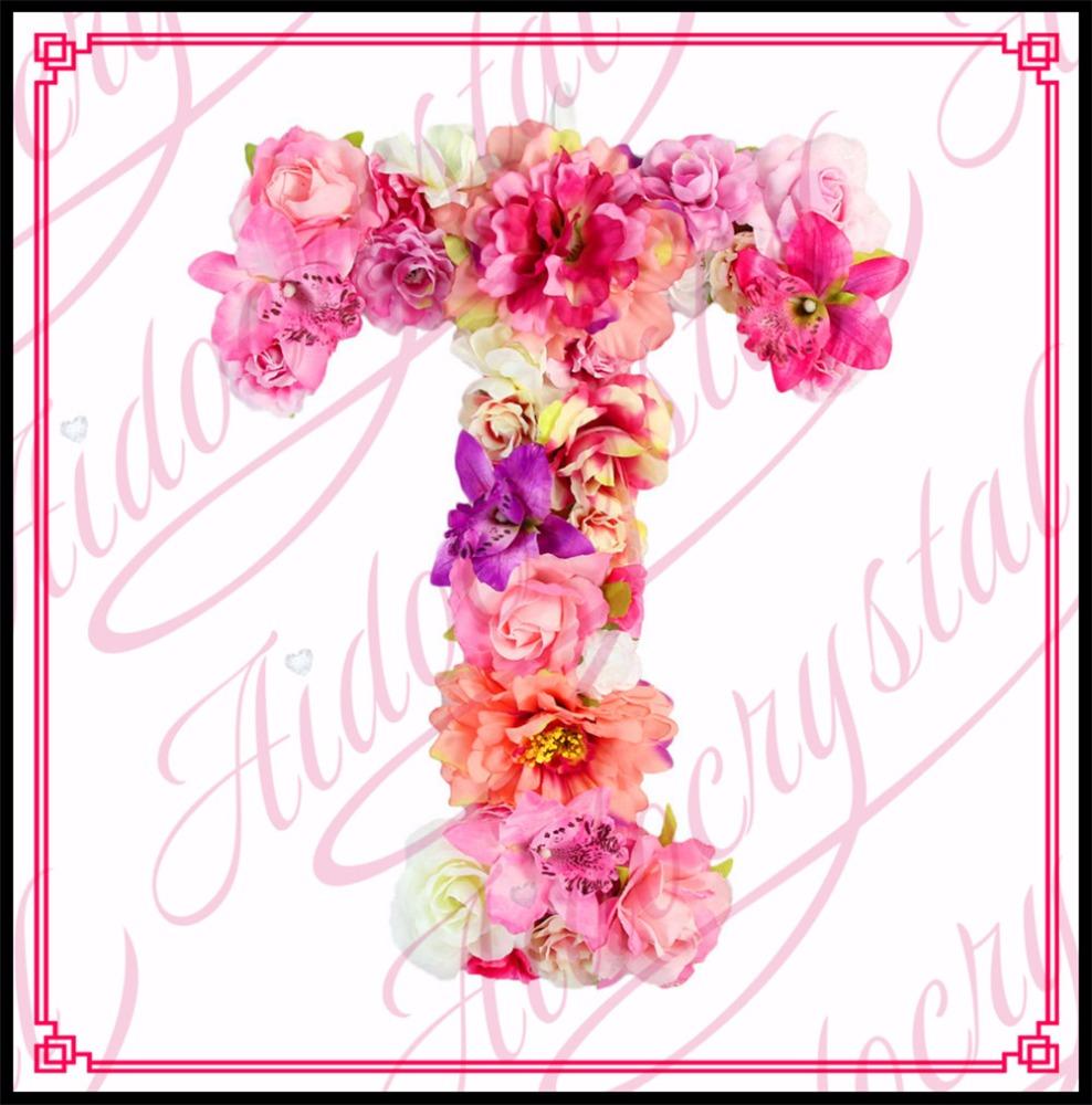 Aidocrystal Handmade Wall Decor Colorful Letter Flower Alphabet ...