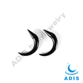 Black acrylic magetic ear non piercing spiral taper plugs wholesale
