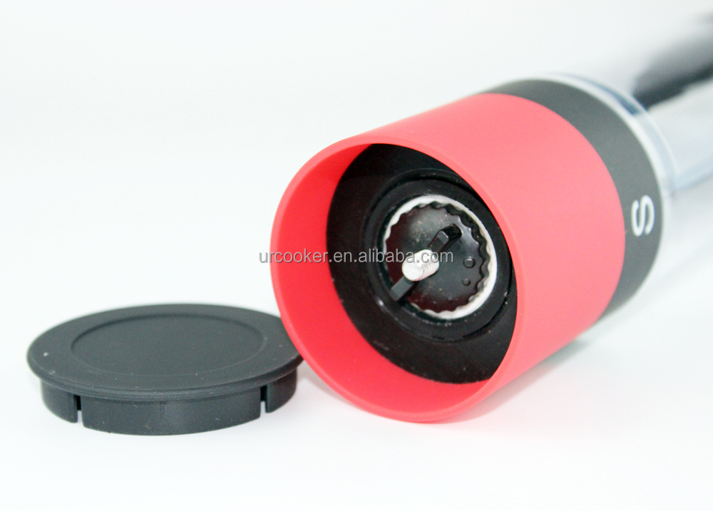 Ceramic Core Salt Mill With Led Dual Colorful Salt And