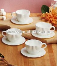 Novelty and Lovely Silicone Teacup Cake Mould Silicone Tea Cupcake Mould Novelty Cake Pans FDA and LFGB Approved