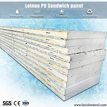 heat resistant insulated polyurethane foam sandwich wall panel / house prefabricated sandwich panel price