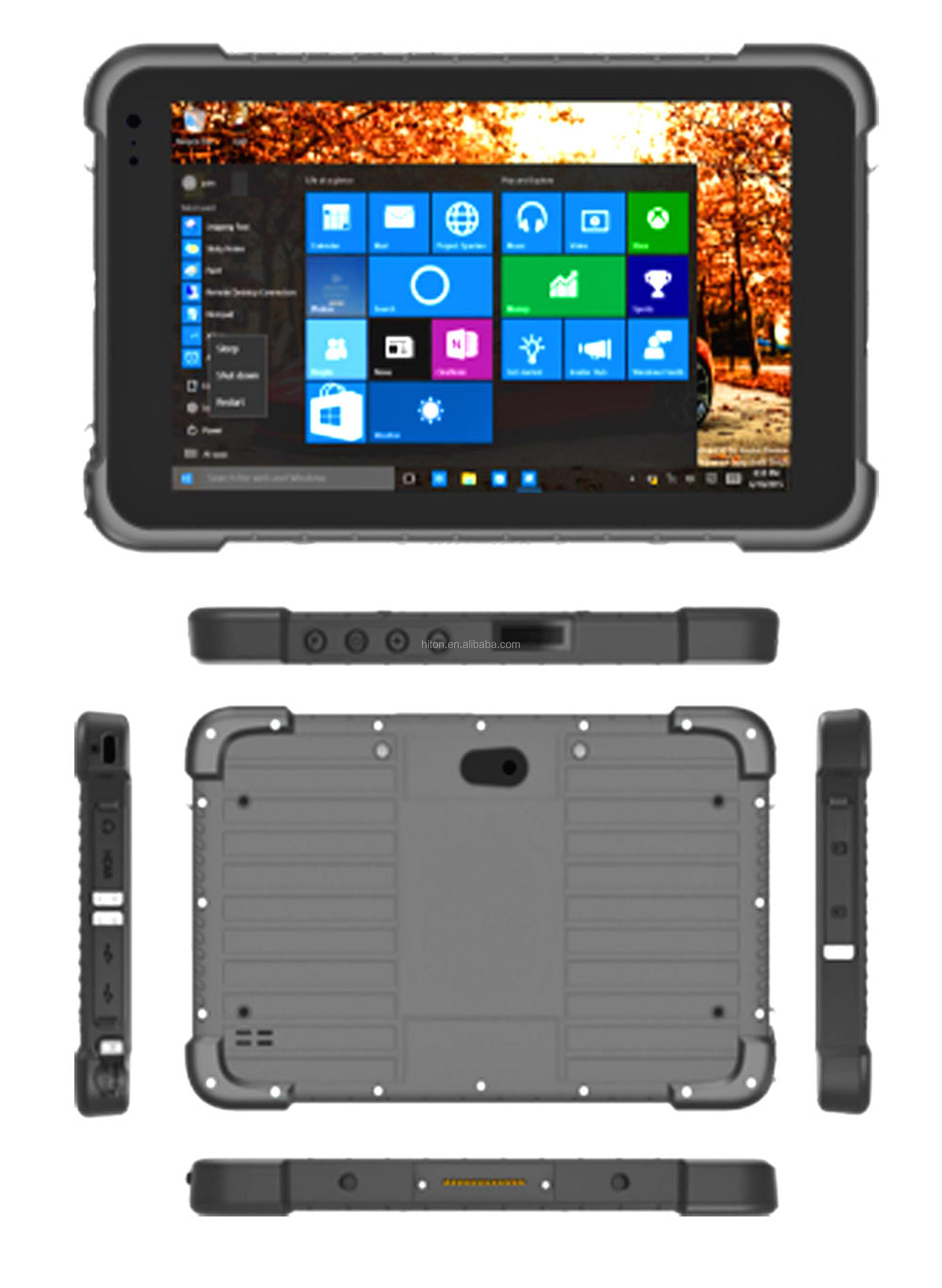 factory cheapest 8inch 2GB 32GB windows10 4G LTE NFC rugged tablet pc computer with NFC GPS barcode scanner