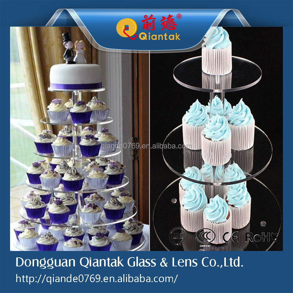 For sale 5 tier lighted acrylic cupcake stand