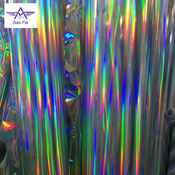 BOPP PET plain rainbow color holographic hologram thermal lamination film rolls with corona treatment
