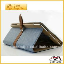 newest flip belt leather case for ipad2
