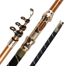 the wholesale carbon fiber telescopic carp fishing rod pole for boat fishing