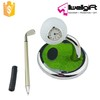 Expensive Business Gift Golf Ball Head Ballpoint Pen Holder with Clock