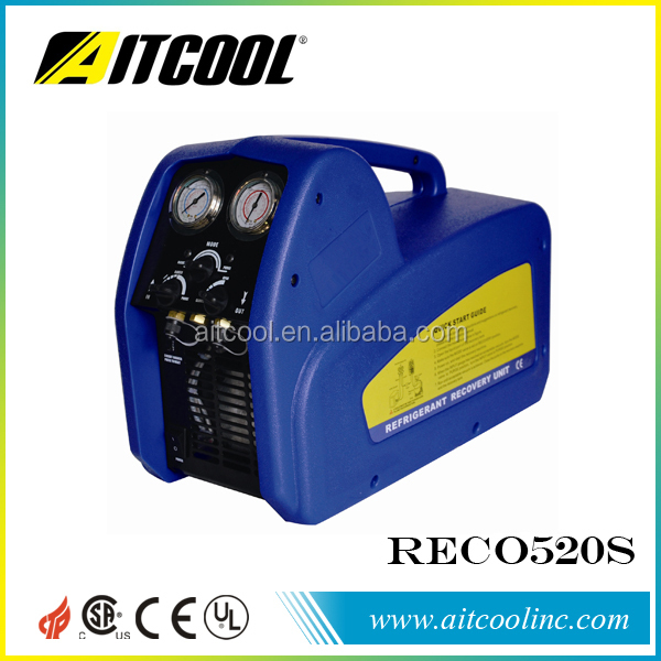 A/C auto refrigerant recovery recycling machine unit with twin piston style dual voltage AITCOOL RECO520S