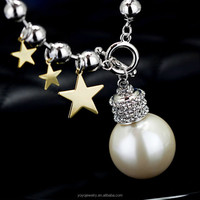 Equisite fashion big chunky korean pearl necklace
