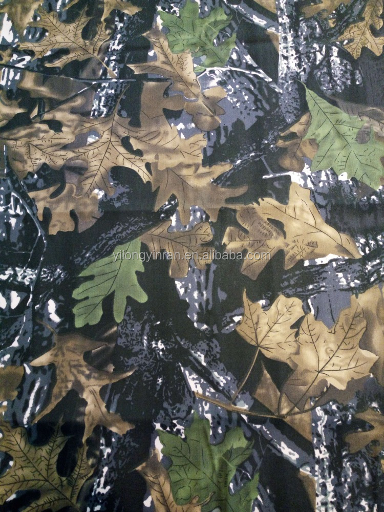 Polyester/Cotton Leaves camouflage fabric pigment printing